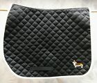 Limited Edition Lettia baby pad - black with Corgi embroidery