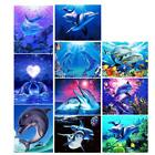 Blue Dolphin Diamond Painting Embroidery DIY Paint By Number Kit for Wall Decor