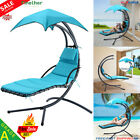 Swing Hammock Helicopter Hanging Chaise Lounger Chair Seat Sun Outdoor W/Cushion