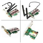 Wireless Wifi LAN Network PCI Express Adapter 150Mbps 300Mbps 450Mbps 1167Mbps