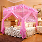 Princess Bed Canopy Mosquito Netting Bed Metal Frame Post Twin Full Queen Size