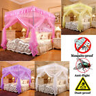 Princess Bed Canopy Mosquito Netting Bed Metal Frame Post Twin Full Queen Size image