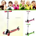 Adjustable Folding Kids Scooter Children Kick Flashing LED Light Up 3 Wheel Push