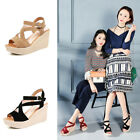 High Platform Hollow Fashion Heels Summer Shoes Casual Toe Sandals Wedge Open