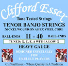 TENOR BANJO STRINGS TUNED GCEA. SPECIFICALLY DESIGNED FOR UKULELE PLAYERS.