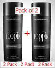 Toppik Black Dark Brown Medium Brown Light Brown Auburn Gray 1 or 2 Pack 27.5g