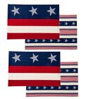 Patriotic Fourth of July Stars & Stripes Cotton Reversible Placemats Decorations