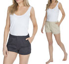 New 100% Cotton Twill Pocket Shorts Womens Summer Holiday Shorts Plus Size Cheap
