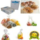 CLEAR POLYTHENE PLASTIC FOOD APPROVED BAGS 80 GAUGE *ALL SIZES / QTYS*