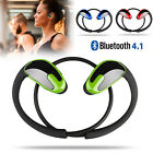 Sweatproof Wireless Bluetooth Headset Stereo Headphones Sport Running Earphones