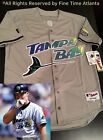 RARE Wade Boggs Tampa Bay Devil Rays Mens MN Road Grey Throwback Jersey