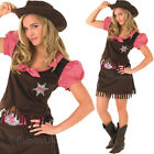 Cowgirl Costume Fancy Dress Wild West Womens Adults Ranch Small Medium Rubies