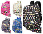 Girls Emoji Backpack Kids Emoticon Smile Rucksack Purse Pencil Case School Bag