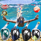 ENKEEO Snorkel Scuba Mask Set Full Face Anti-Fog Swim Snorkeling Diving Goggles