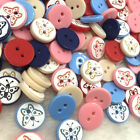 20/50/100pcs Mix Butterfly Plastic Resin Button/Sewing 12mm PT128