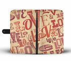 Awesome Cool Love Typography Phone Case Wallet