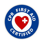 CPR FIRST AID CERTIFIED Button Badge 3 Sizes Pinback Lapel Pin Qualified Aider