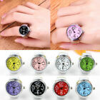 Unisex Colorful Finger Ring Watch Creative Steel Round Dial Elastic Quartz Gift image