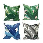 Outdoor Indoor Banana Leaves Throw Pillow Cover, Swaying Palms Patio Pillowcase