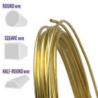 Yellow Brass Wire, Round, Half Round, Square, 10 12 14 16 18 20 21 22 24 Gauge