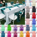 """12""""x 108"""" Inch Satin Table Runner Wedding Reception Banquet Party Decoration"""