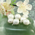 Unique Large Baroque Freshwater Pearl Pendant, Classic White Pearl Necklace