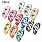 Genuine Leather Charms Bracelet Multi Color For 12mm snap button Snap Jewelry  image