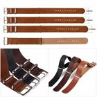 18/20/22mm Universal Leather Watch Band Wrist Strap + Stainless Steel Buckle NEW image