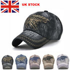 UK Personalised Unisex Embroidered Baseball Cap Adjustable Golf cap Cowboy Hats