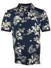 ANGEBOT Baileys Polo Shirt Piqué in dunkelblau beige FloraldessinGr. 6XL