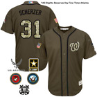 Max Scherzer Washington Nationals Mens Salute to Service Military Camo Jersey