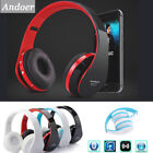 Faltbare Wireless Bluetooth Headset Stereo Musik Kopfhörer für iPhone Samsung PC