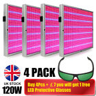 120W LED Grow Light Blue Red Spectrum Hydroponic Plants Veg Growth+LED Glasses