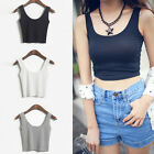 Women Sleeveless Tank Cami Sleeveless T-Shirt Summer Vest Crop Tops Blouse DS