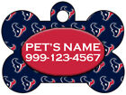 Houston Texans Custom Pet Id Dog Tag Personalized w/ Name & Number $9.87 USD on eBay