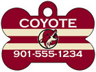 Arizona Coyotes Custom Pet Id Dog Tag Personalized w/ Name & Number $9.87 USD on eBay