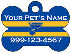 St Louis Blues Custom Pet Id Dog Tag Personalized w/ Name & Number $11.67 USD on eBay