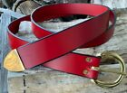 """Внешний вид - 1.5"""" SCA Squire Ring Belt-RED-Options for Metals & Tips Medieval"""