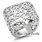 HCJ Women's Stainless Steel Square Shape Dome Style Ladies Fashion Ring SZ 5, 9