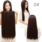 100% Natural Lady 3/4 Full Head Clip In Hair Extensions Curly Wavy/Straig_Deko