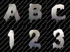 """FONT -- DRIPPING 4"""" -- Metal House Address Number Letter Home Mailbox or Stencil"""