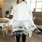 JC Womens fashion Slim fit coat button long formal boys Chinese ink painting new