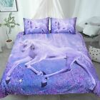 BED LINEN Soft Blue Mystical Unicorn Bedding Set Unicorn Dooner Cover Set