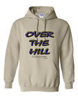 Pullover Hooded hoodie sweatshirt Unique Over the Hill and picking up speed