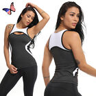 Womens Tank Top For Sport Workout Yoga Shirt Clothes Vest At