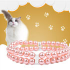 New Adjustable Pet Pendant Jewelry Dog Pearl Necklace Collar Chain Pinkset.Pro