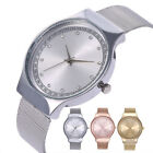 Women Ladies Quartz Wrist Watches Small Dial Mesh Stainless Steel Bracelet Gifts image