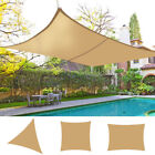 Sun Shade Sail Canopy Patio Garden Awning Shelter With Free Rope 9 Sizes