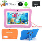 7'' Tablet 8GB Android 4.4 Dual Camera Bluetooth WiFi Quad Core For Kids Gift