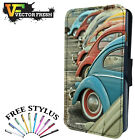 Vw Classic Beetle Cars Different Colours - Leather Flip Wallet Phone Case Cover